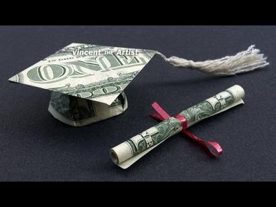 Money Origami Graduation Cap & Diploma - Dollar Bill Art