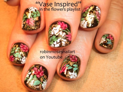 Nail Art for Short Nails | Floral Bouquet Nails 5 | DIY flower garden #NAILS