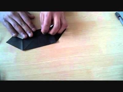 Origami hexagon gift box tutorial I
