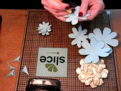 Paper Flowers for mini albums, scrapbooks, cards, etc.