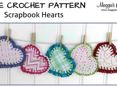Scrapbook Hearts Free Crochet Pattern - Right Handed