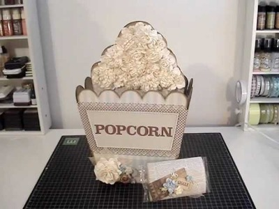 Scrapbook Mini Album - Popcorn Box and Popcorn Shaped Mini Album : )