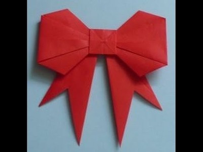 The Art of Paper Folding - How to Make an Origami Paper Bow