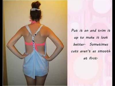 Tutorial: DIY shirt with braided back