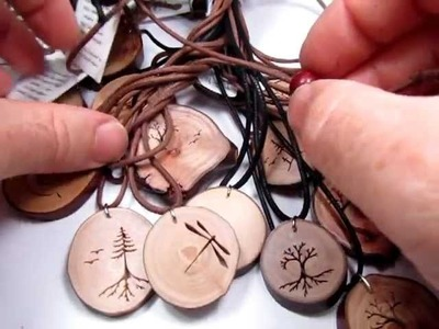 Westcoast Wood Pendants from HeartwoodGifts.com