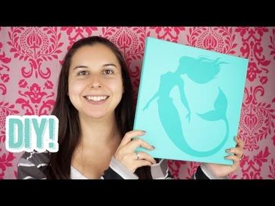 475: DIY Mermaid Nursery Canvas Wall Art Tutorial using the Silhouette Cameo