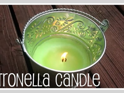 Craft- Mosquito Repelling Candle