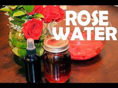 ✿ DIY How to Make ROSE WATER, Homemade Facial Toner, Setting Spray, Facial Steam ✿