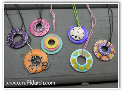 DIY Nail Polish Washer Necklaces   Hardware Store Jewelry