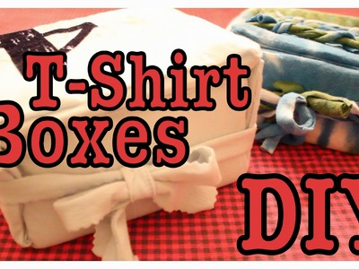 DIY: Room Decor T-Shirt Boxes!