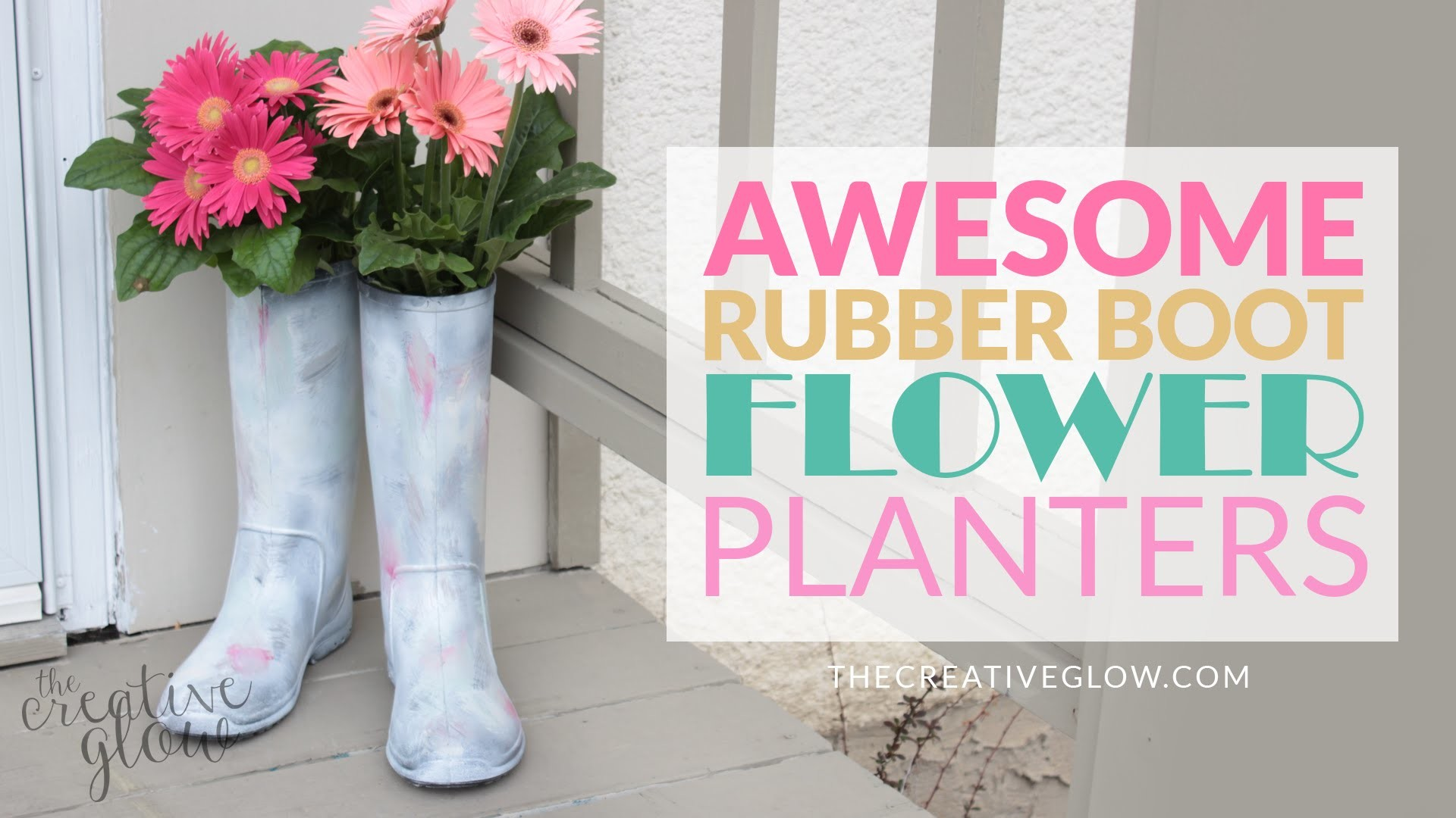 DIY Rubber Boot Flower Planters - Fun, Easy & Quick