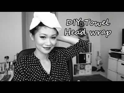 DIY: Towel Head Wrap