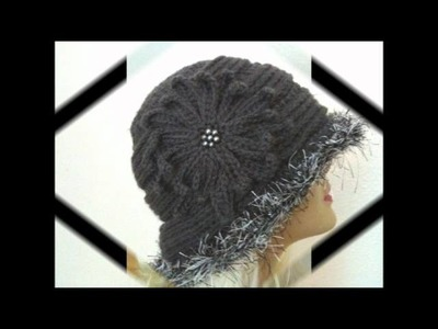 Elegant Textured Gray Crochet Hat Pattern