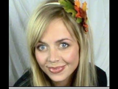 Fall makeup & DIY fall headband | Naturesknockout.com