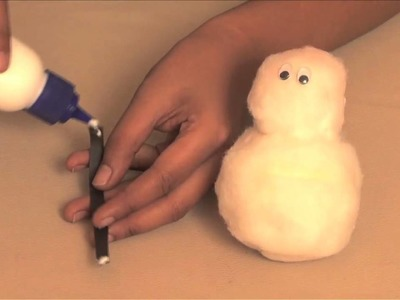 How to make a Cottony Snowman - Arts and Crafts