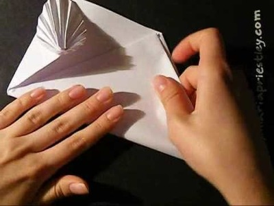 How to make an origami card. envelope