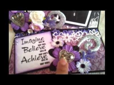Justin Bieber scrapbook easle card