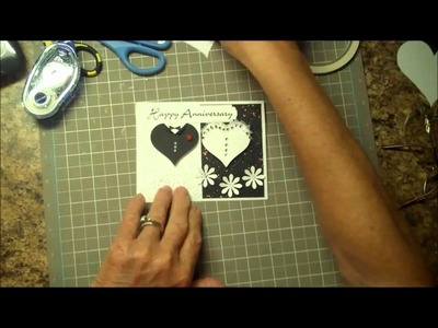 Making a paper bride and groom