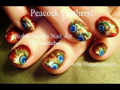 Nail Art Tutorial | DIY Peacock Feather Nails | Easy Feathers Nail Design