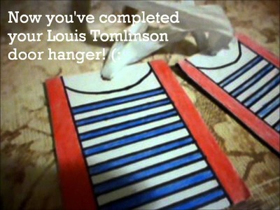 1.7 days of One Direction Infection crafts! (Louis Tomlinson signature outfit door hanger)