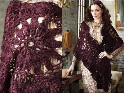 #27 Hairpin & Broomstick Wrap, Vogue Knitting Crochet 2013 Special Collector's Issue