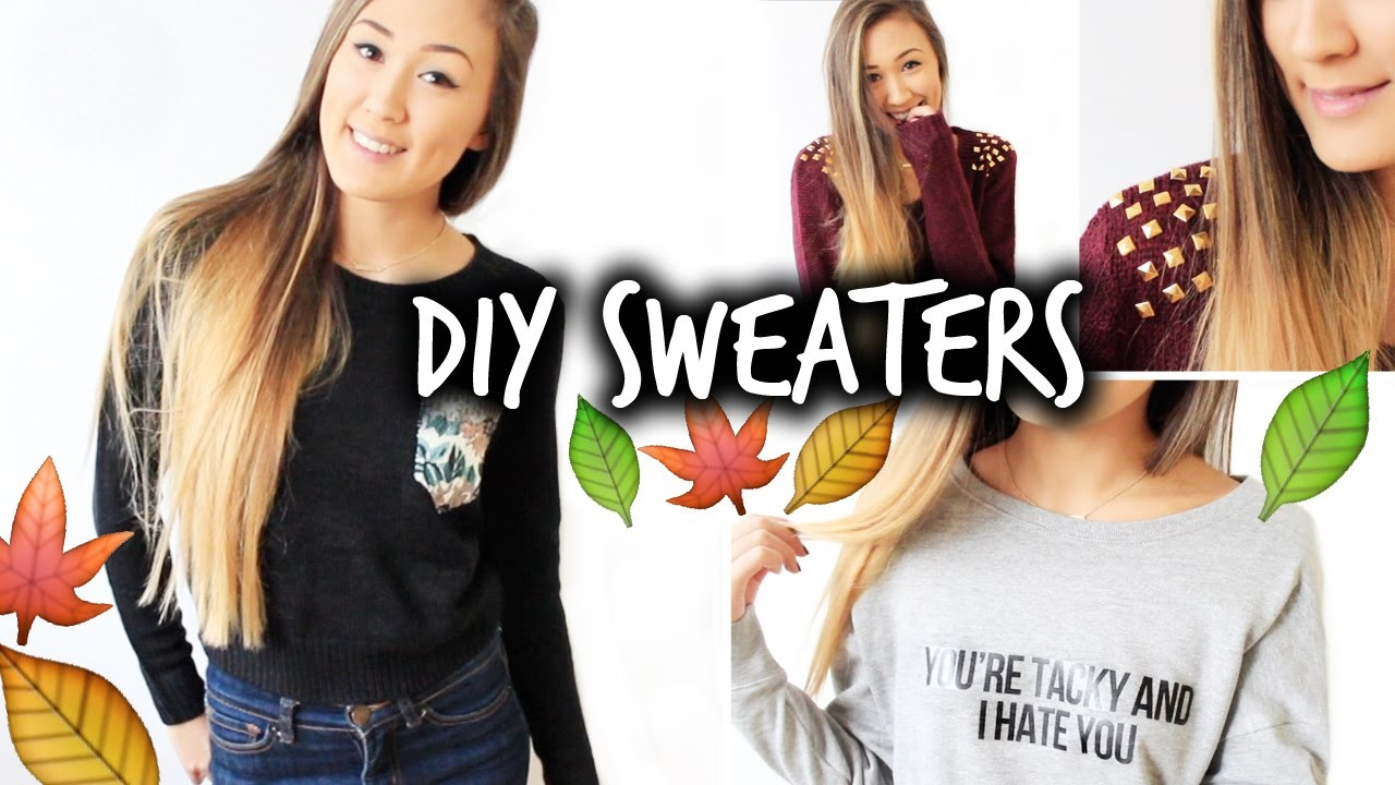 3 Easy & Affordable DIY Sweaters for Fall!