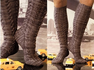 #31 Cabled Knee Socks, Vogue Knitting Winter 2010.11