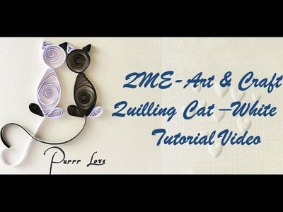 Art & Craft: How to Make Beautiful Quilling CAT  -Quilling Made Easy