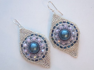BeadsFriends: Beaded Earrings - Arrow earrings made with seed beads, bugles and bicones