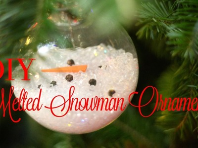 Christmas DIY: Melted Snowman Ornament