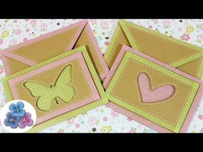 Como Hacer Tarjetas FACIL con Washi Tape Kawaii video Tutorial Scrapbook DIY español Pintura Facil