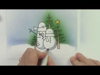 Copic in the Craft Room: Airbrushing for a Holiday Card
