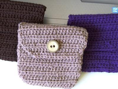 Crochet Belt pouch.bag  Bolista para cinto. video 2 and final