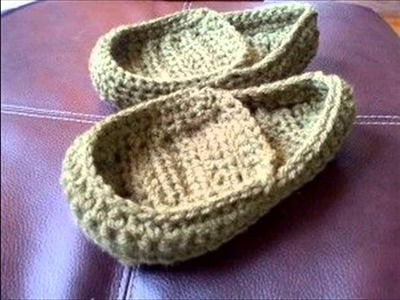 Crochet slippers for boys