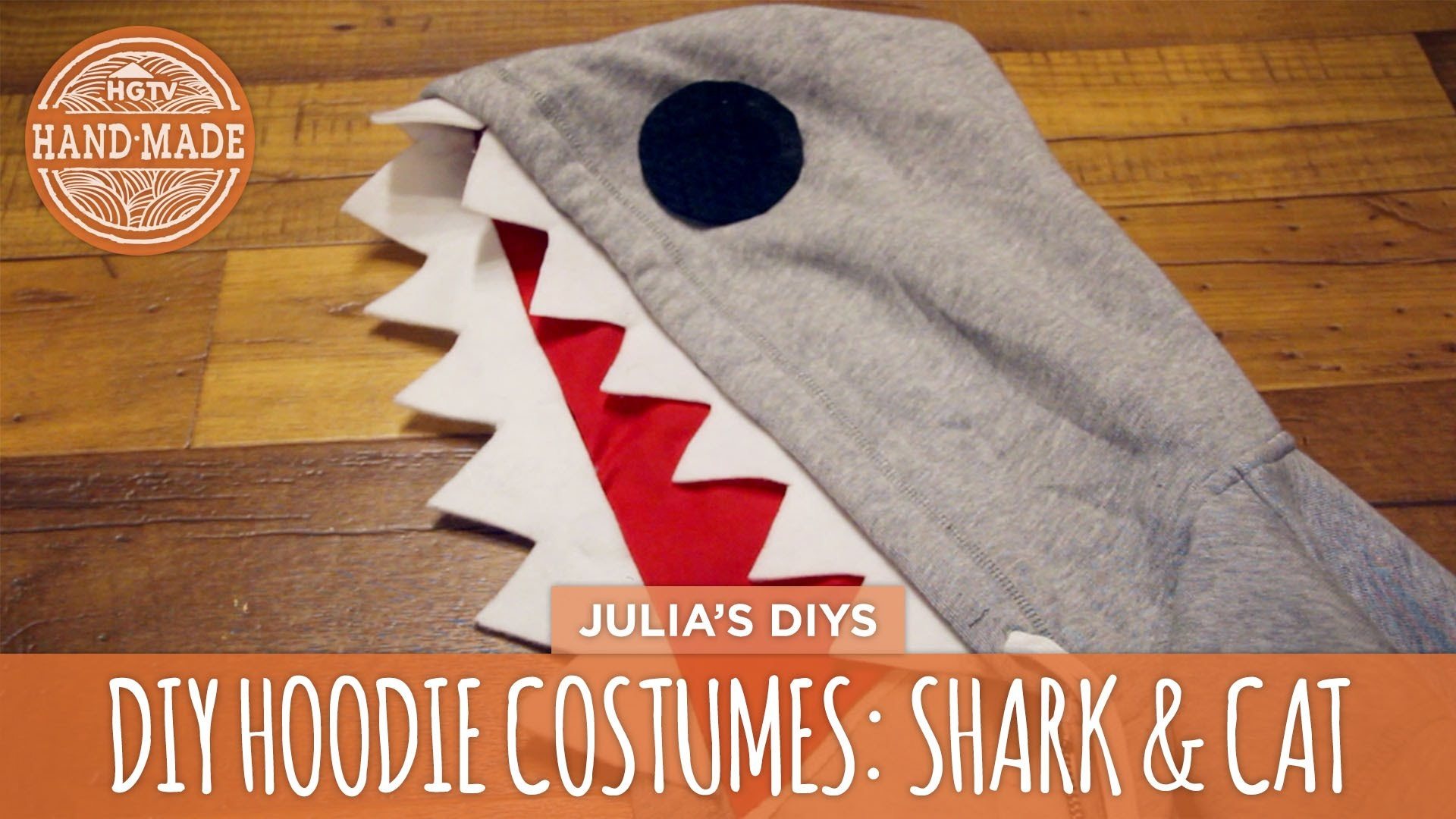 DIY Black Cat & Shark Hoodie Costumes - HGTV Handmade
