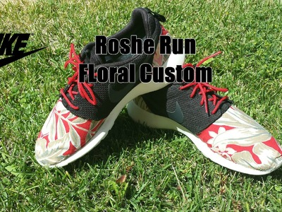 "DIY: | Custom Sneakers #1 |  Nike Roshe Run | Floral | ""Swoosh"""