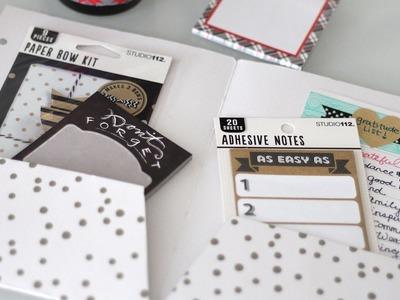 DIY Filofax A5 File Folder Divider | Vlogmas Day 15