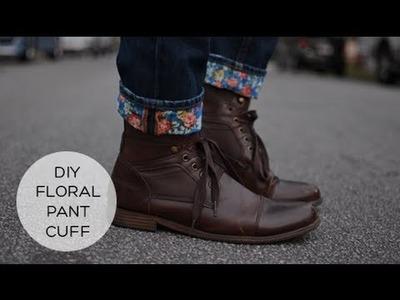 DIY Floral Pant Cuff
