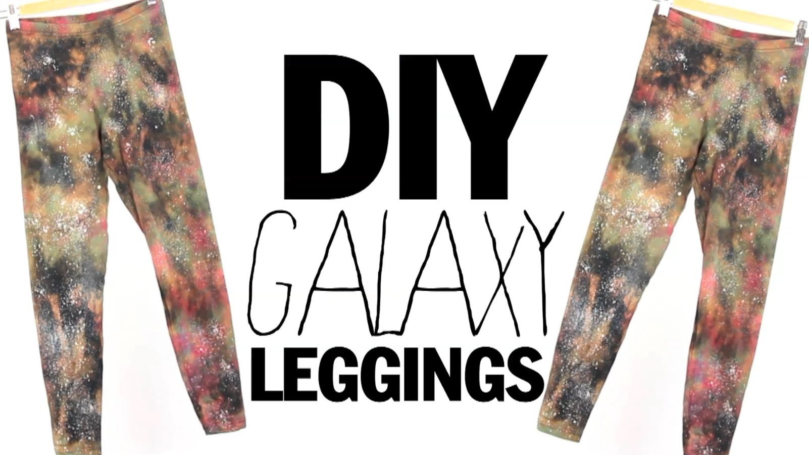 DIY Galaxy Leggings. Boldly go where no leggings have gone before. maybe