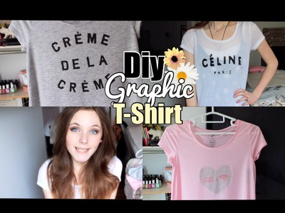 DIY Graphic T-Shirts♡