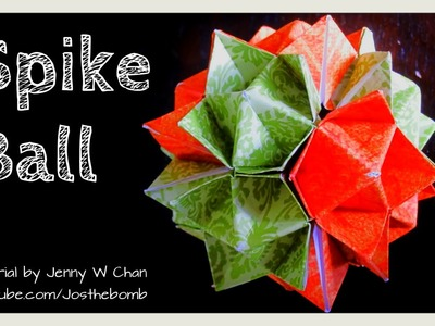 DIY How to Fold Origami Ball - Spiky Spike Ball - Cuboctahedron