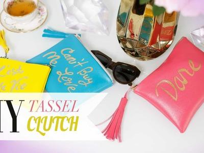 DIY Rebecca Minkoff Inspired Tassel Purse | ANNEORSHINE