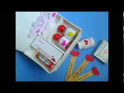 DIY. Valentine's Day Crafts ♥ Manualidades. Botiquin del Amor