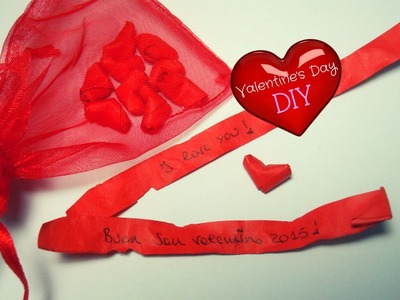 DIY Valentine's Day Gift ♥ Speaking Hearts in a Bag ♥ Origami Tutorial