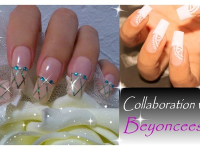 Easy Bridal Nail Art | Collaboration With Beyonceesha | Wedding Nude Nails ♥