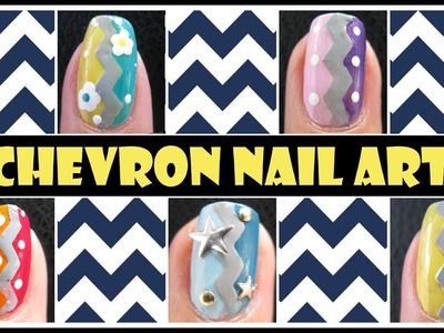 EASY CHEVRON NAILS & EASTER EGGS NAIL ART DESIGN TUTORIAL FOR BEGINNERS CRAFT SCISSORS