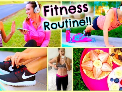 Fitness Routine 2015 ♡ Essentials, DIY Healthy Snacks, Workouts + More!