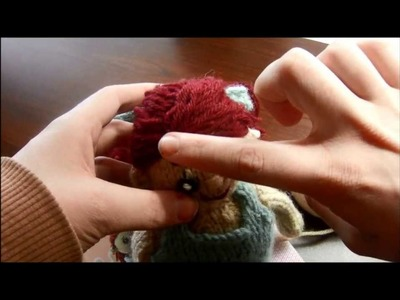 *How to add hair to a knitted doll*