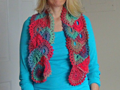 How to Crochet a Scarf in Ribbon Lace