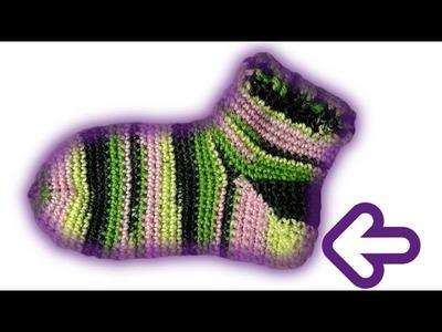 How to crochet a sock heel